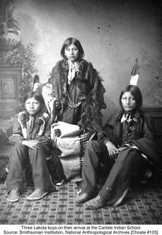 Wounded Yellow Robe, Timber Yellow Robe, and Henry Standing Bear, Carlisle Indian School Native American Children, Native American Beauty, Native American Photos, Native American Tribes, Native American History, American Indians, Sioux, Folk, Native Indian