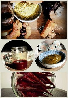 mixing natural henna paste