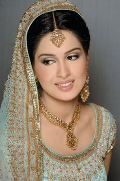 bridal | Pakistani brides bridal make-up fashion.