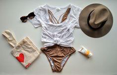 honeymoon outfit on the beach