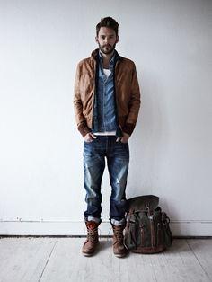 mens fashion style bag jacket