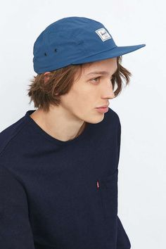 Shop Herschel Supply co. Glendale Nylon Navy Cap at Urban Outfitters today. Herschel Supply Co, Nylons, Urban Outfitters, Navy Cap, Caps Hats, Latest Fashion, Baseball Hats, Shopping, Style