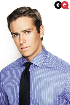 The delectable Armie Hammer - I'm going to resist making puns and double entendres with his surname.