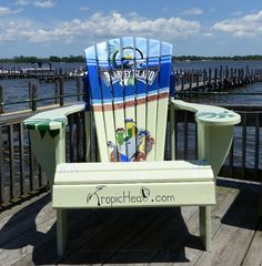GIANT Adirondack Chair!   Custom designed hand painted Adirondack chair at Blarney Island in Antioch Illinois.