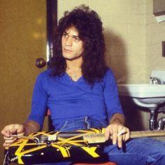 Eddie Van Halen backstage 1979