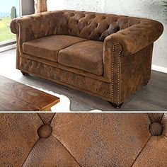 Edles Chesterfield Sofa 2-Sitzer im Antik Look http://www.moebelkaufen.info/produkt/edles-chesterfield-sofa-2-sitzer-im-antik-look/