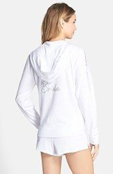 5acd00ad1cd Betsey Johnson Lace Trim Bridal Hoodie available at  Nordstrom April  Wedding