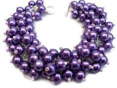 Purple pearl beaded
