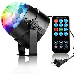 Rbg Disco Ball Strobe Lamp 7 Modes Stage Par Light For Home Room Sound Activated Party Lights With Remote Control Dj Lighting
