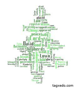 Luke 2 Christmas tree  From Tagxedo.com