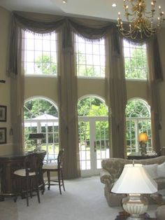 Drapery style on pinterest window treatments swag and valances