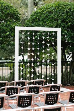 white paper cranes wedding backdrop / http://www.himisspuff.com/origami-wedding-ideas/9/