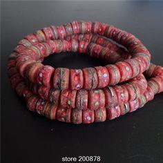 BRO514 Тибет 108 бусин Смазанный Красный Як кости Четки 13 мм Тибетский Старину вола кости четки Четки Ожерелье