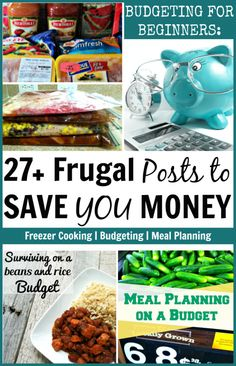 27+ frugal living posts to help you save money