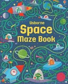 """""""Space maze book"""" at Usborne Books at Home Organisers Space Books For Kids, Craters On The Moon, Learning Express, Maze Book, Maze Puzzles, Maze Game, Book Week, Book Nooks, Book Activities"""