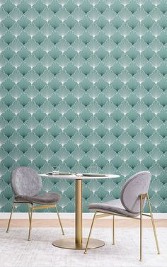 6 Art Deco Wallpapers To Create A Luxurious Interior Wallpaper Art Deco, Dining Room Wallpaper, Modern Wallpaper, Art Deco Stil, Modern Art Deco, Art Deco Print, Art Deco Design, Living Room Themes, Luxury Interior