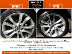 Clean car wheels do more than just enhance the looks of your car. We treat tires with a sealant to keep them hydrated while delivering a nice shine that last for weeks, not days.  #dtautospa #family #dad #mom #automobile #vehicles #carwash #autodetailing #instauto #professionals #smallbusiness #cars #mercedes #bmw #lexus #fremontca
