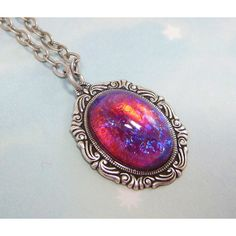 Dragons Breath Opal Necklace Gothic Necklace Game of Thrones Jewelry... ($29) ❤ liked on Polyvore featuring jewelry, necklaces, art nouveau necklace, fire opal jewelry, goth necklace, deco necklace and goth jewelry