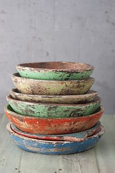 Originally for the Japanese aesthetic wabi-sabi. Explore tags: what is wabi-sabi? Wabi Sabi, Interior Pastel, Deco Nature, Keramik Vase, Dough Bowl, Wood Bowls, Rustic Bowls, Rustic Plates, Wooden Plates