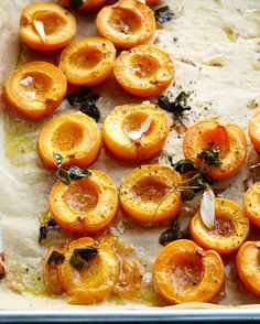 Roasted Apricots With Ricotta And Honey by kitchenrepertoire #Apricots #Ricotta #Honey
