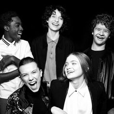 Finn Millie Gaten Caleb and Sadie I love this cast