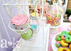 Pastel Carnival Party by A Lolly Buffet | Ferris Wheel Cupcake Holder