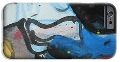 IPhone Case featuring the painting Abstract-26 by Katerina Stamatelos
