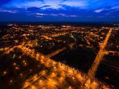 Nowa Sól nocą.Karol Kolba Fotoreporter