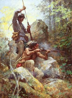 """""""White Man First Sticks,"""" Native American Fine Art edition from Howard Terpning."""