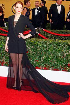 SAG Awards 2015: Emma Stone en Dior Haute Couture
