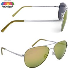 Polaroid Aviator Sunglasses Lime Green Flash Silver Frame Ultrasight 100% UVA/B in Clothes, Shoes & Accessories, Men's Accessories, Sunglasses & Eyewear | eBay