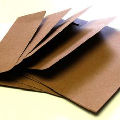25 Natural Kraft A7 Envelopes with Square Flap . 5.25 by scrapbits, $9.00