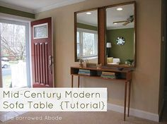 Retro - Modern Entryway Table