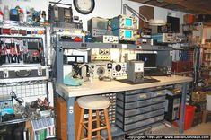 Electronics and antique radio workbench basics Electronics Projects, Electronics Storage, Electronics Gadgets, Electronic Gadgets For Men, Electronic Shop, Home Workshop, Workshop Ideas, Mobile Workshop, Workshop Storage