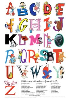 Free download - Alphabet poster from HarperCollins featuring popular children's book characters.