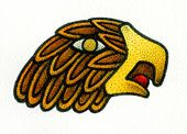 Aztec 15. EAGLE  • Quality: Great spirit • A day... for renewal and re-birth • Daysign Deity: Spring God Xipe Totec • Body Association: Right hand • Direction: West • Influence: Middling • Special: ---