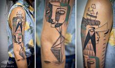 Des superbes tatouages géométriques basés sur la véritable histoire des clients