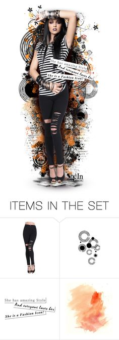 """""""So why don't you lock me up with joy and kisses? Lock me up with love?"""" by the-forgotten-wolf ❤ liked on Polyvore featuring art, doll, jeans, Sheinside and shein"""