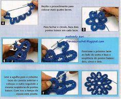 #pull tab flower #crochet  = picture tutorial