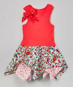 Loving this Pink Floral Handkerchief Dress - Infant, Toddler & Girls on #zulily! #zulilyfinds