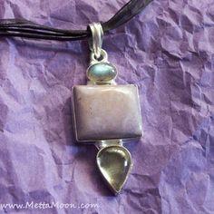 MettaMoon Pastel Gemstone Pendant Necklace