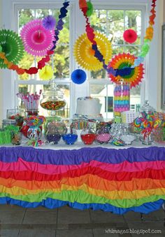 WHIMAGES: Rainbow Birthday Party
