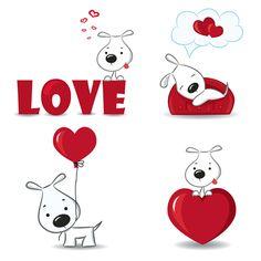 Perrito alegre con amor