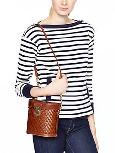 This is so cute as an item, but NOT with that outfit pictured... A fun spring dress!   flights of fancy binocular bag, burnished wicker