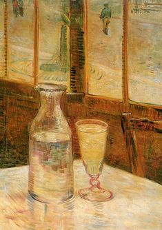 Vincent van Gogh Still Life with Absinthe painting is shipped worldwide,including stretched canvas and framed art.This Vincent van Gogh Still Life with Absinthe painting is available at custom size. Art Van, Van Gogh Art, Vincent Van Gogh, Van Gogh Museum, Oil Canvas, Canvas Art, Canvas Size, Van Gogh Still Life, Van Gogh Pinturas