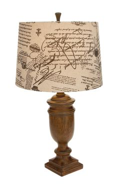 """Woodland Imports Beautiful Resin Table Lamp - 25"""" h - wood look/faux bois - $96"""