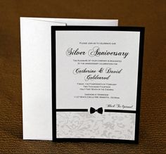 Bow Tie Design Invitations  Black Tie Party by IvoryIsleDesigns, $1.10