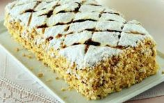 Millefeuille with almond cream Greek Sweets, Greek Desserts, Party Desserts, Greek Recipes, Desert Recipes, Pastry Recipes, Cooking Recipes, Middle Eastern Desserts, Italian Pastries