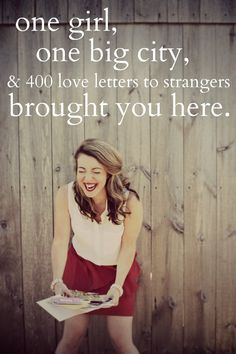 More Love Letters - mail love letters, handwritten love letters, to strangers in need all over the world. Could you script a letter of love to someone you will never meet?    Is there someone in your own life who could use a love letter?