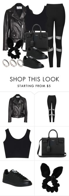 """""""Style #11337"""" by vany-alvarado ❤ liked on Polyvore featuring Acne Studios, Topshop, Yves Saint Laurent, adidas and ASOS"""